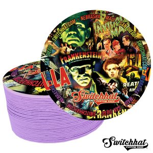 switchhat limited edition classic monsters coasters